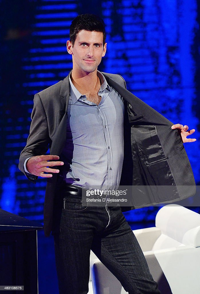 <a gi-track='captionPersonalityLinkClicked' href=/galleries/search?phrase=Novak+Djokovic&family=editorial&specificpeople=588315 ng-click='$event.stopPropagation()'>Novak Djokovic</a> attends 'Che Tempo Che Fa' Tv Show on April 6, 2014 in Milan, Italy.