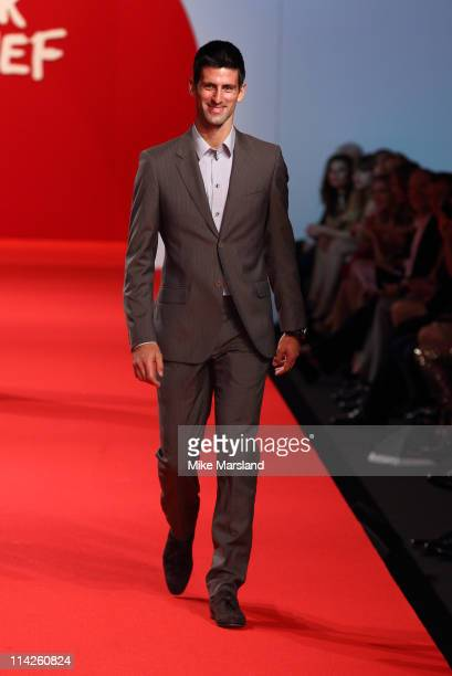 Novak Djokovic attends the ' Fashion For Relief Japan Fundraiser' during the 64th Annual Cannes Film at Forville Market on May 16 2011 in Cannes...