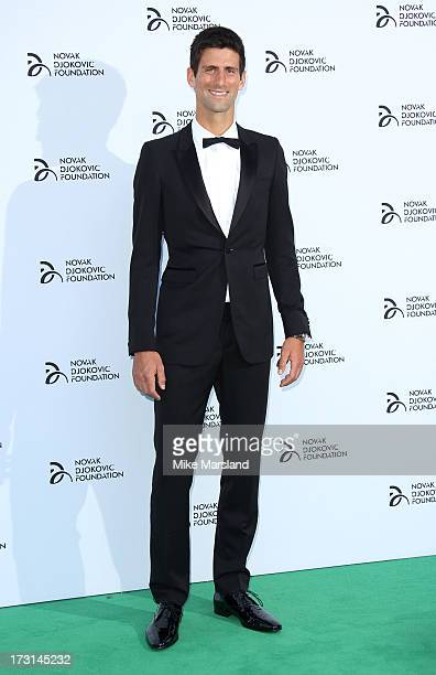Novak Djokovic attends the Novak Djokovic Foundation London gala dinner at The Roundhouse on July 8 2013 in London England