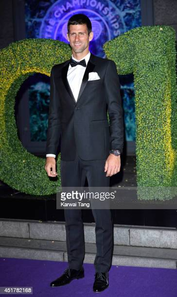 Novak Djokovic attends the Wimbledon Champions Dinner at the Royal Opera House on July 6 2014 in London England