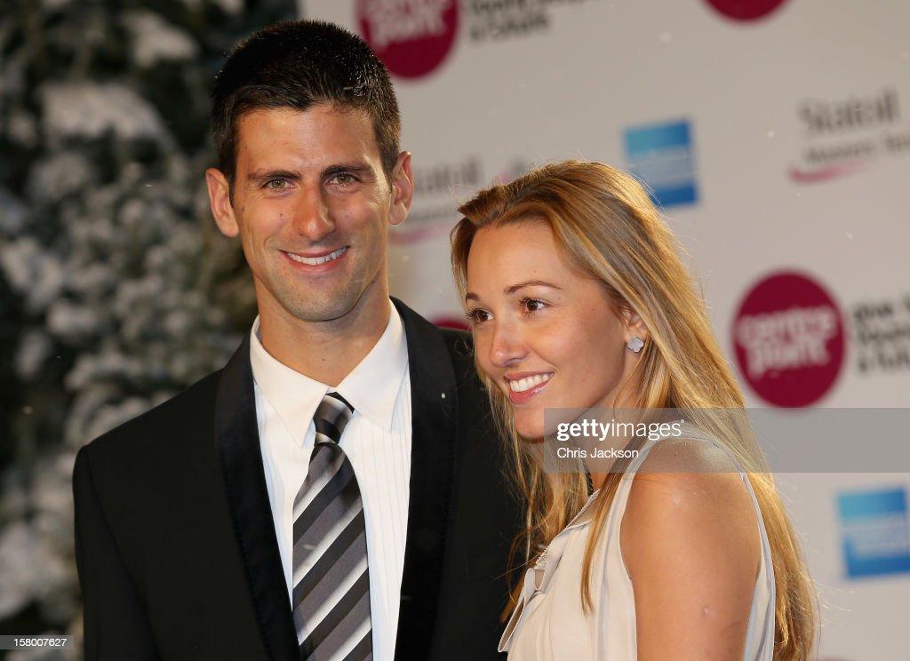 Novak Djokovic attends the Winter Whites Gala at Royal Albert Hall on December 8, 2012 in London, England.