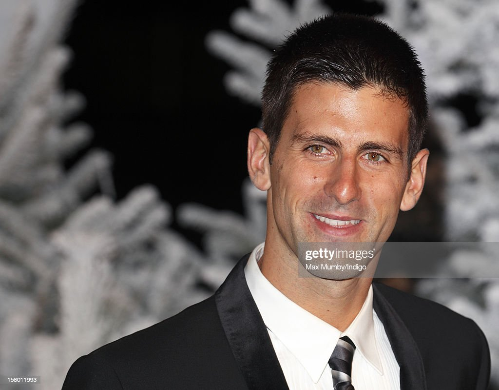 Novak Djokovic attends the Winter Whites Gala, in aid of homeless charity Centrepoint, at The Royal Albert Hall on December 08, 2012 in London, England.
