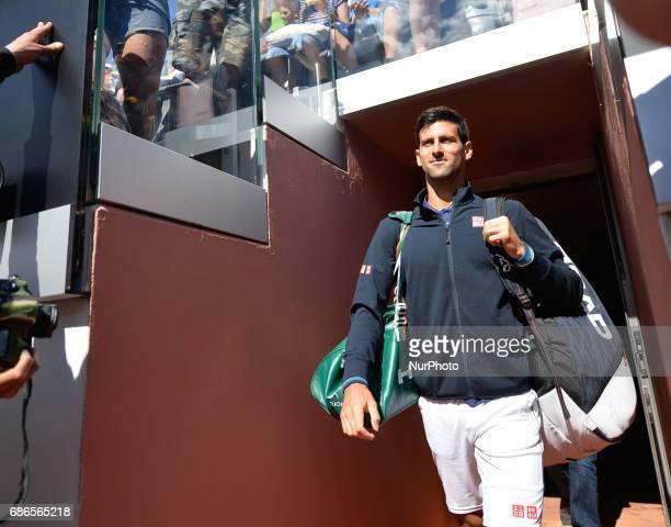 Novak Djokovic during his match against Alexander Zverev Internazionali BNL d'Italia 2017 on May 21 2017 in Rome Italy