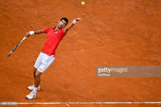 Novak Djokovic during the ATP match Nadal vs Djokovic at the Internazionali BNL d'Italia 2016 at the Foro Italico on May 13 2016 in Rome Italy