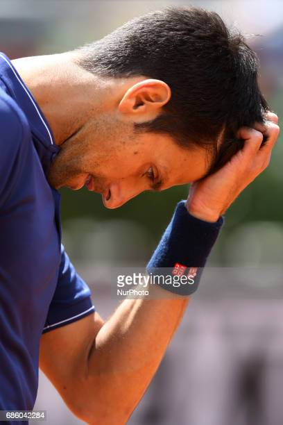 Novak Djokovic during the semifinal match at the ATP Internazionali d'Italia at Foro Italico in Rome ITALY Photo Matteo Ciambelli / Sipa Press
