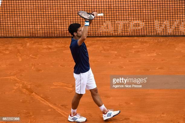 Novak Djokovic of Serbia celebrate his victory during the Monte Carlo Rolex Masters 2017 on April 18 2017 in Monaco Monaco