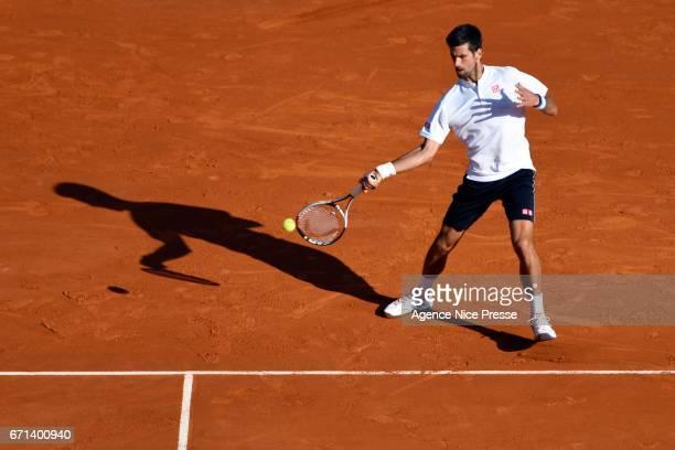 Novak Djokovic of Serbia during the Monte Carlo Rolex Masters 2017 on April 21 2017 in Monaco Monaco