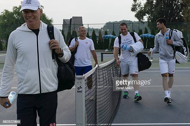Novak Djokovic returns to his home town to meet with his coach at the Tennis Center Novak in Belgrade Republic of Serbia Sept 25 2015
