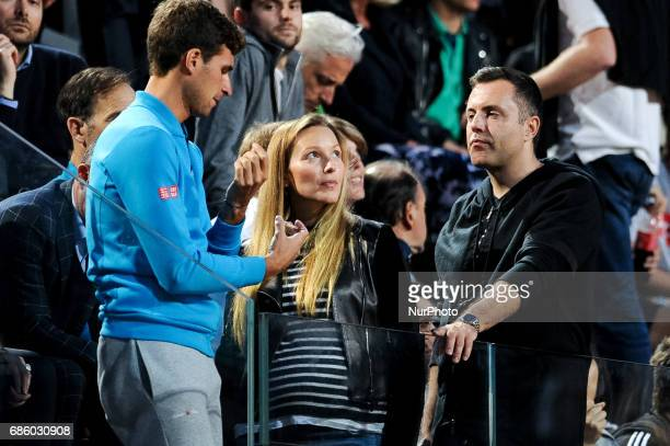 Novak Djokovic's wife Jelena Ristic attends the match versus Dominic Thiem during the ATP World Tour Masters 1000 Internazionali BNL D'Italia at the...