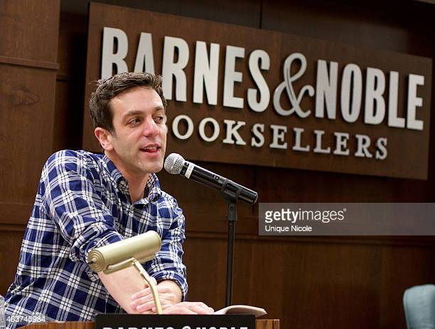 J Novak reads from his new book 'One More Thing Stories and Other Stories' and 'The Book with No Pictures' at Barnes Noble bookstore at The Grove on...