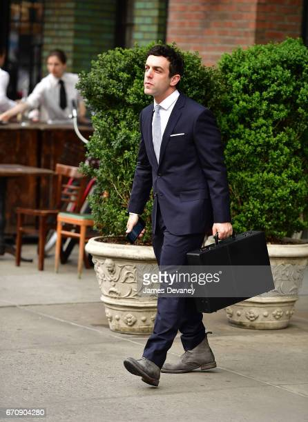 J Novak seen on the streets of Manhattan on April 20 2017 in New York City