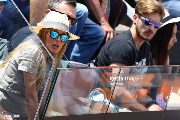 Novak's wife Jelena Ristic pregnant during the semifinal match at the ATP Internazionali d'Italia at Foro Italico in Rome ITALY Photo Matteo...