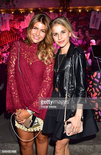 Novalanalove and Caro Daur attend the URBAN DECAY Vice Lipstick Launch at Prince Charles Club on July 7 2016 in Berlin Germany