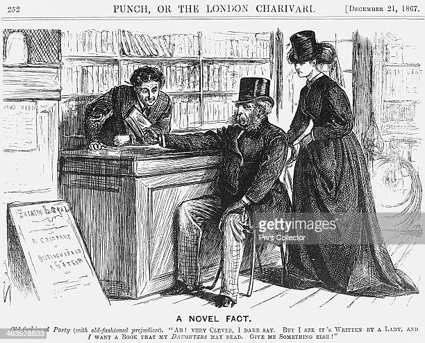 'A Novel Fact' 1867 An elderly gentleman considers that any book written by a woman must surely be unsuitable reading matter for his own daughters...
