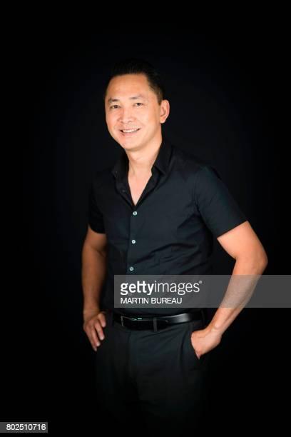 US novelist 2016 Pulitzer prize winner for Fiction vietnameseborn Viet Thanh Nguyen poses during a photo session on June 28 2017 in Paris / AFP PHOTO...