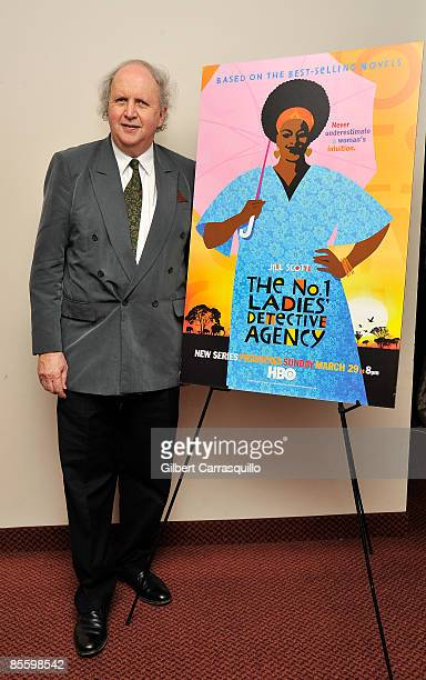 novelist Alexander McCall Smith attends the HBO series 'The No1 Ladies' Detective Agency' premiere at the Prince Music Theater on March 24 2009 in...
