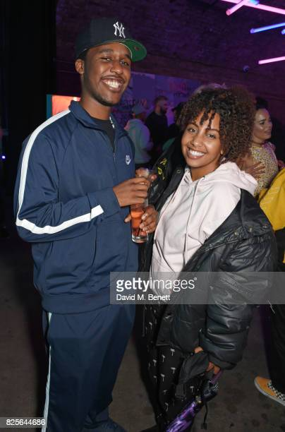 Novelist and Jade Avia attend a special screening of 'Atomic Blonde' at The Village Underground on August 2 2017 in London England