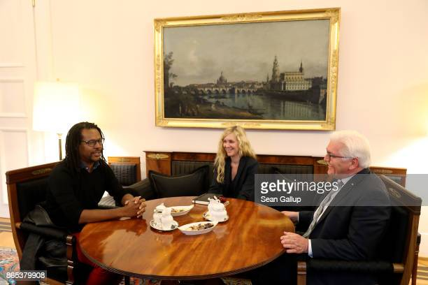S novelist and Pulitzer Pize winner Colson Whitehead meets German President FrankWalter Steinmeier at Schloss Bellevue presidential palace on October...