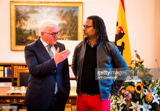 US novelist and Pulitzer Pize winner Colson Whitehead meets with German President FrankWalter Steinmeier at the presidential palace Schloss Bellevue...