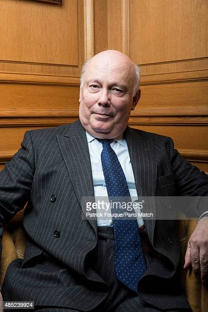Novelist and screenwriter Julian Fellowes is photographed for Paris Match on May 12 2014 in Paris France