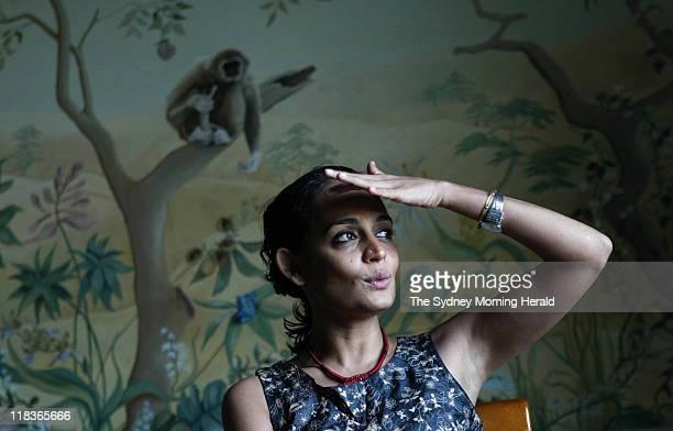 Novelist and Sydney Peace Prize winner Arundhati Roy at the Observatory Hotel Sydney 2 November 2004