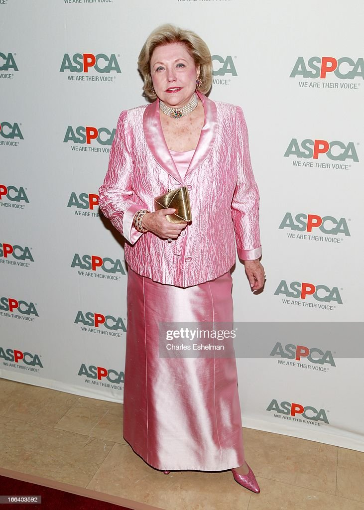 Novelist Barbara Taylor Bradford attends the 16th Annual ASPCA Bergh Ball at The Plaza Hotel on April 11, 2013 in New York City.