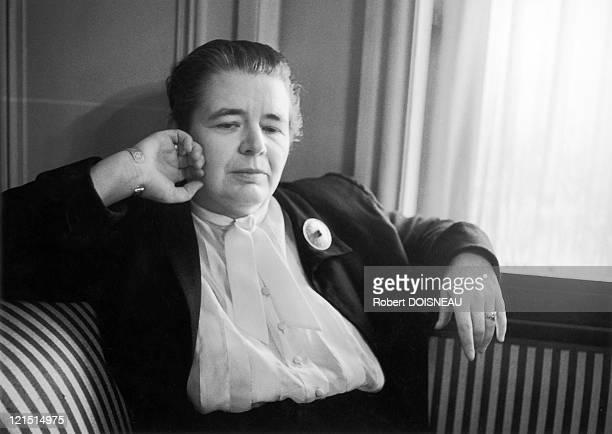 Novelist Essayist And Poet Marguerite Yourcenar In 1955