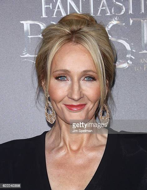 Novelist J K Rowling attends the 'Fantastic Beasts And Where To Find Them' world premiere at Alice Tully Hall Lincoln Center on November 10 2016 in...