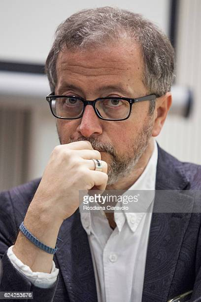 Novelist Journalist and screenwriter Diego De Silva attends Bookcity Milan 2016 on November 18 2016 in Milan Italy