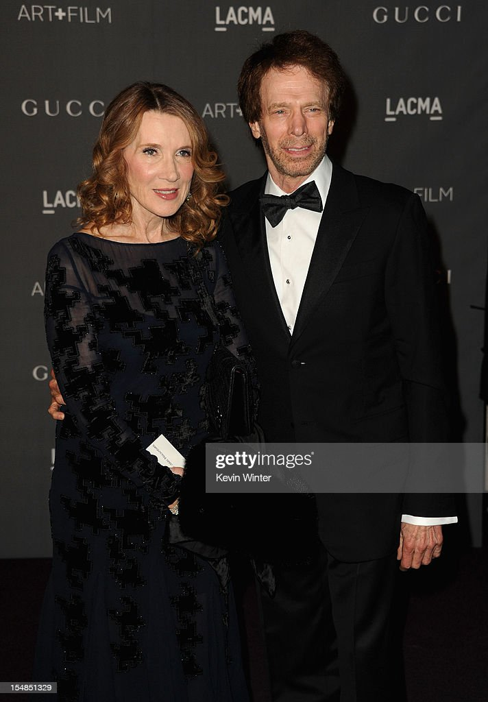 Novelist Linda Bruckheimer and producer Jerry Bruckheimer arrive at LACMA Art + Gala at LACMA on October 27, 2012 in Los Angeles, California.