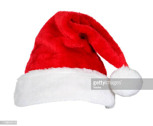 Novelty Santa red & white hat isolated on white