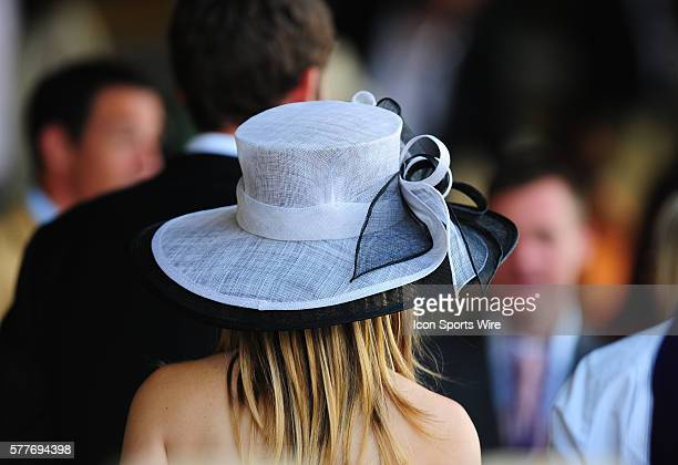 November 07 2009 A fan wears a hat during the final race at Santa Anita Race track in Arcadia California during the Breeders Cup World Championship...