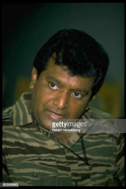 LTTELiberation Tigers of Tamil Elamrebel leader Velupillai Prabhakaran during TIME interview