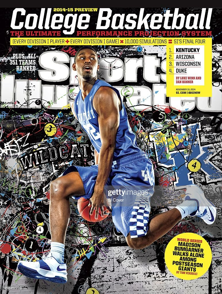 November 10 2014 Sports Illustrated Cover NCAA Season Preview Portrait of University of Kentucky forward Alex Poythress during photo shoot at Joe...