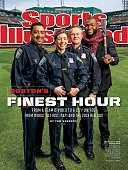 November 11 2013 Sports Illustrated Cover Baseball Portrait of Boston Red Sox David Ortiz casual during photo shoot with Boston Police Department's...