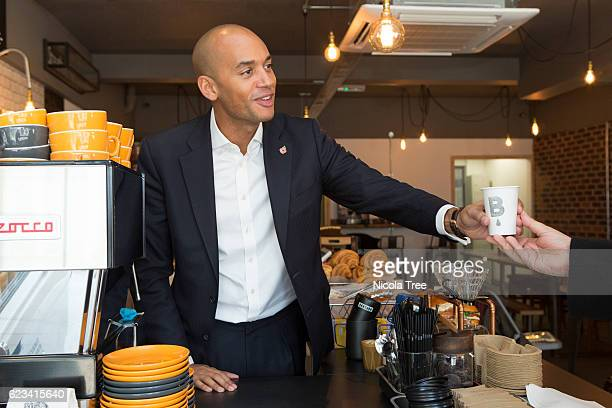 Chuka Umunna Labour MP for Streatham visiting local business Batch Co Coffee to promote Small business Saturday on the 3rd of december 2016
