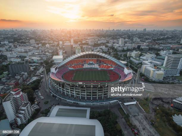 November 15, 2016 at Rajamangala National Stadium have A football match in time sunset . bangkok . Thailand.