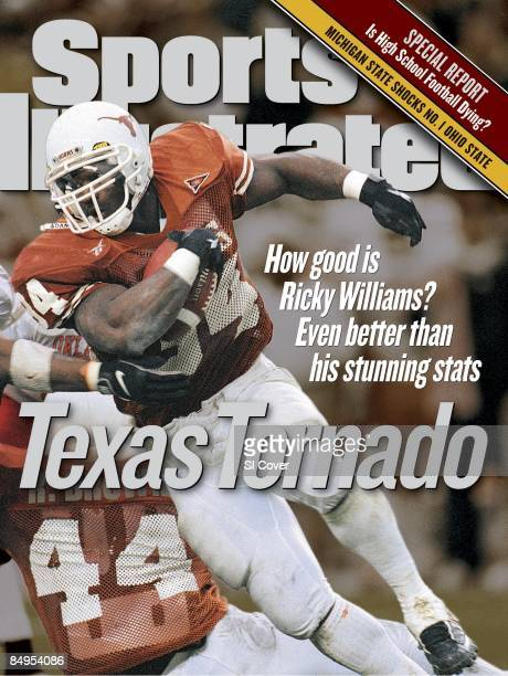 November 16 1998 Sports Illustrated Cover College Football Texas Ricky Williams in action rushing vs Oklahoma State Austin TX 11/7/1998 CREDIT John...