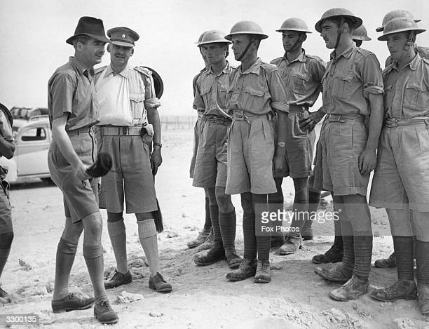British statesman Anthony Eden inspecting troops in Egypt He was Secretary of State for War until December 1940 when he became Foreign Secretary