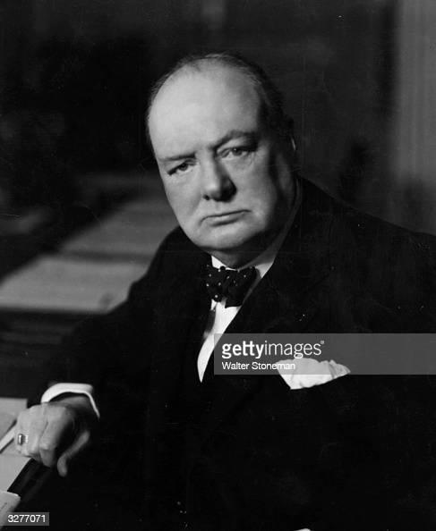 British Prime Minister Winston Churchill