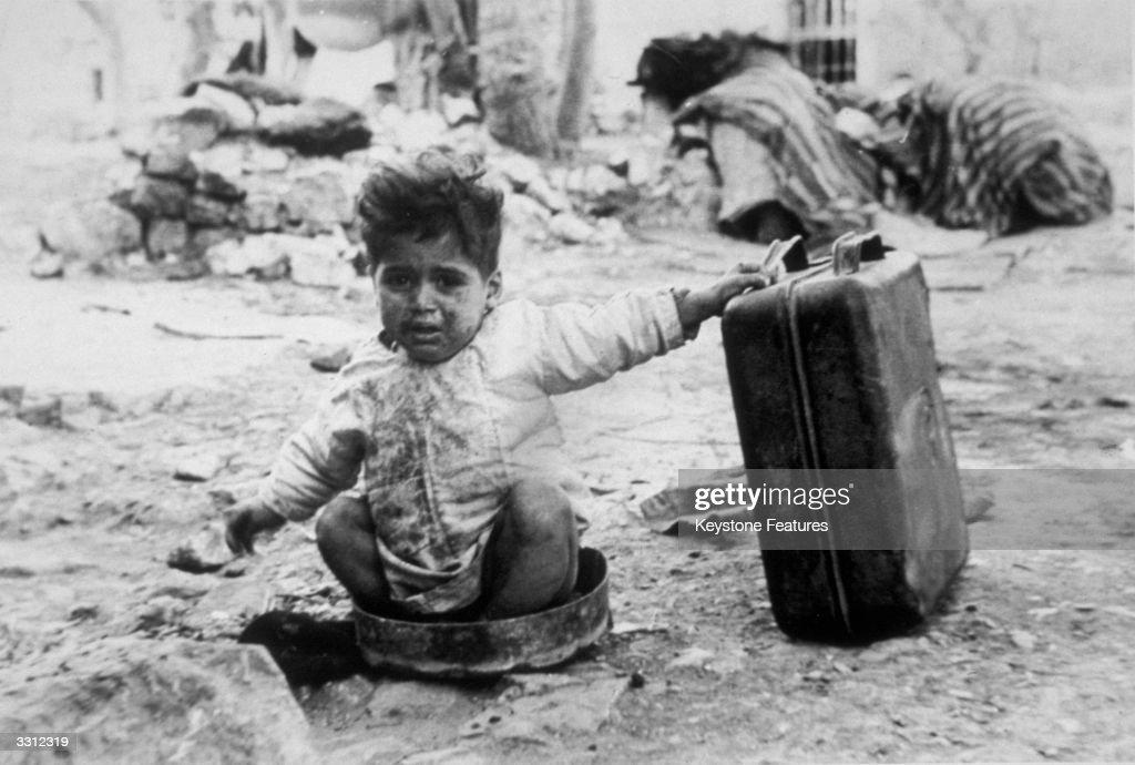 An Arab refugee in a camp in Palestine