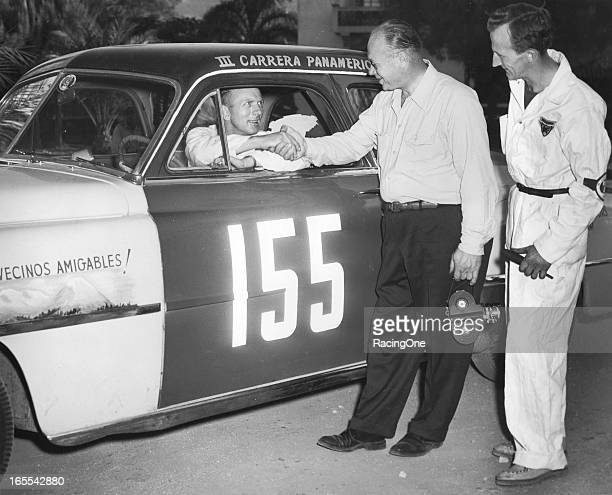 JUAREZ CHIHUAHUA MEXICO — November 1952 Reginald McFee drove this Chrysler New Yorker in the La Carrera Panamericana also known as the Mexican Road...