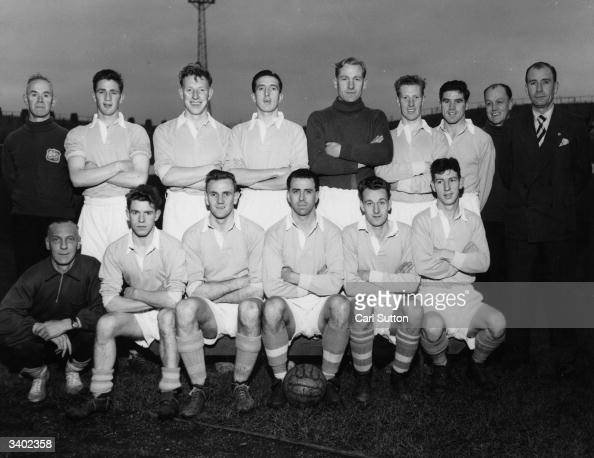 The players of Manchester City Football Club a side with a good chance of winning the league Championship From the back row and from left to right...