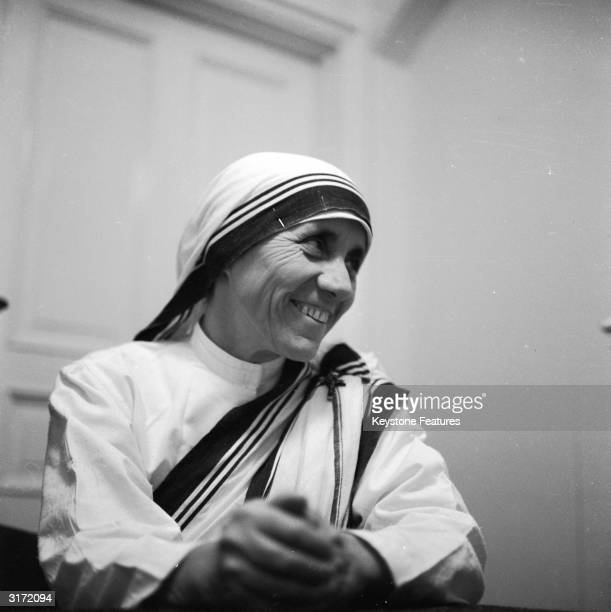Mother Teresa the Albanian nun who dedicated her life to the poor the destitute and the sick of Calcutta earning the Nobel Peace Prize in 1979
