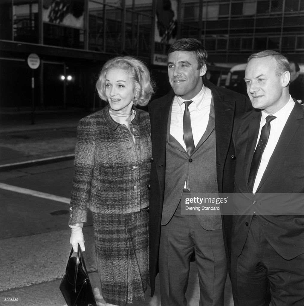 American songwriter Burt Bacharach (centre) with German film actress Marlene Dietrich (1901 - 1992).