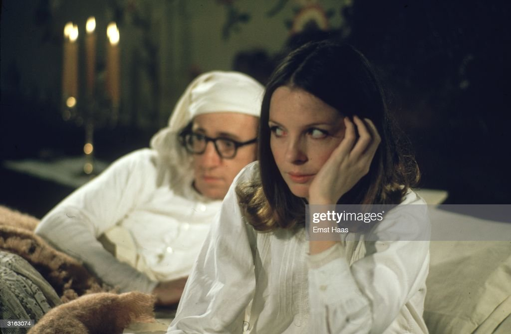 Woody Allen and Diane Keaton star in the farcical comedy 'Love and Death', set in Russia during the Napoleonic Wars.