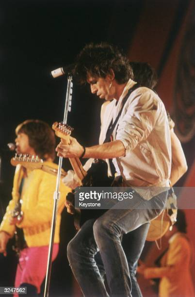 Keith Richards performs with the Rolling Stones at Madison Square Gardens New York