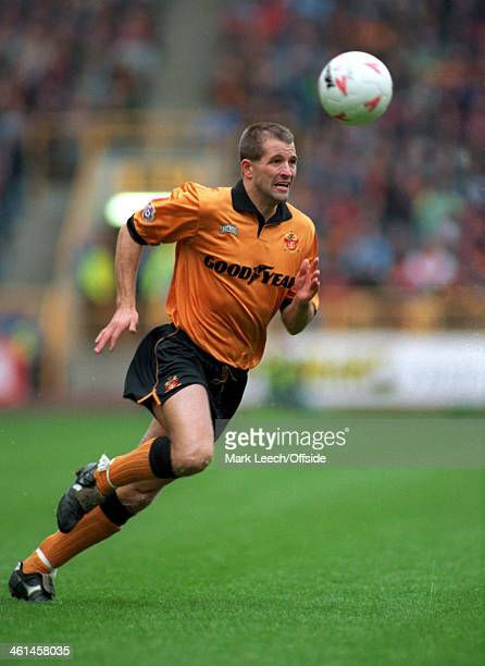 05 November 1994 English Football League Division One Wolverhampton Wanderers v Luton Town Steve Bull of Wolves chases the ball