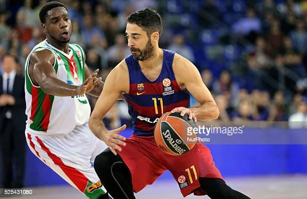 Juan Carlos Navarro during the match between FC Barcelona and Pinar Karsikaya corresponding to the week 6 of the basketball Euroleague played at the...