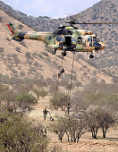 November 20, 2010 - Chilean Special Forces perform an Air Assault demonstration at their training area in Colina, Chile.